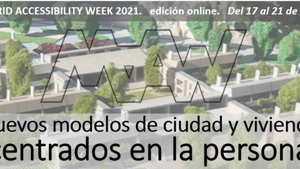 Imagen del cartel publicitario de la Madrid Accessibility Week 2021