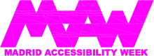 Logotipo de las jornadas Madrid Accesibility Week